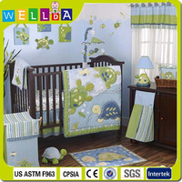 European style embroidery baby crib bedding set