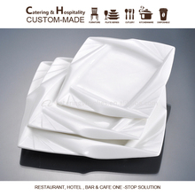 hotel & restaurant porcelain dishwasher safe cheap white square wholesale ceramic dinner plates for restaurant