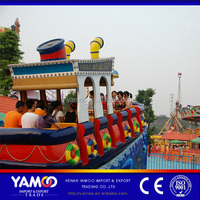 China factory children amusement kiddie rides small swing boat supplier kids electric track boat