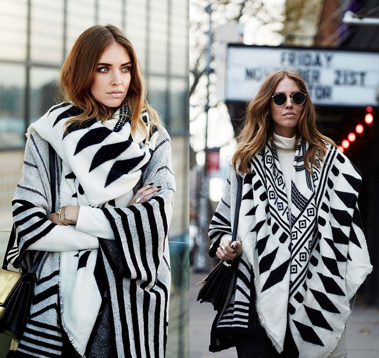 New 2016 Winter Fashion Lady <strong>Scarf</strong> Fashionable White and Black Stripe <strong>Scarf</strong> Shaw <strong>Scarf</strong>