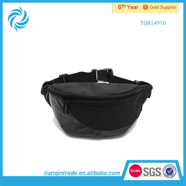 side waist bag for men zipper waist bag
