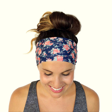 workout fitness hair headbands lycra nylon custom flower headband