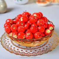 15pcs Mini Red apple artificial fruit faux food house kitchen office party decor