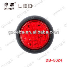 stop turn tail light for trailer round truck led tail light,three colors semi truck tail light led