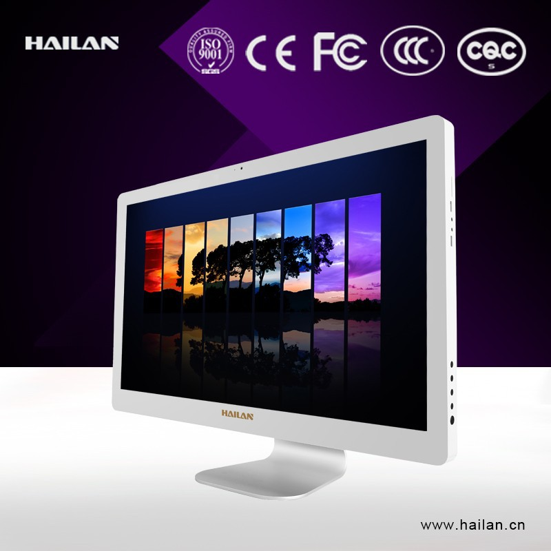 HAILAN new design 27inch led panel touch screen HD resolution all in one mini pc case slim case