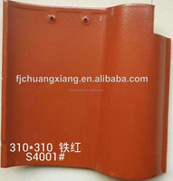 310x310mm Iron Red Spanish Clay Roof Tiles from Quanzhou factory