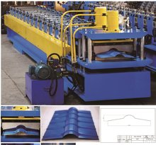 YX110-240 Metal Roof Ridge Cap Roll Forming Machine