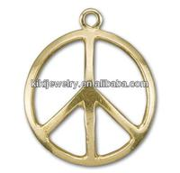 Fashion Silver Peace Sign Charm Jewelry