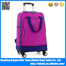 Factory easy carry on duffle wheeled bag traveling trolley luggage bag