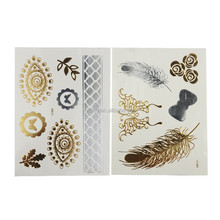 2015 NEW HOT Metallic Gold Silver Temporary Tattoos Jewelry Flash body Bling