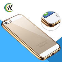New product for iphone case dropship for iPhone 5 5s Electroplating tpu silicone wood leather soft phone case