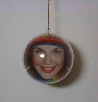 Christmas photo bauble with insert