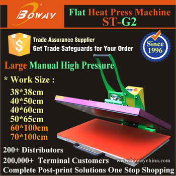 70*100cm manual high pressure clothes thermal hot transfer flat printer