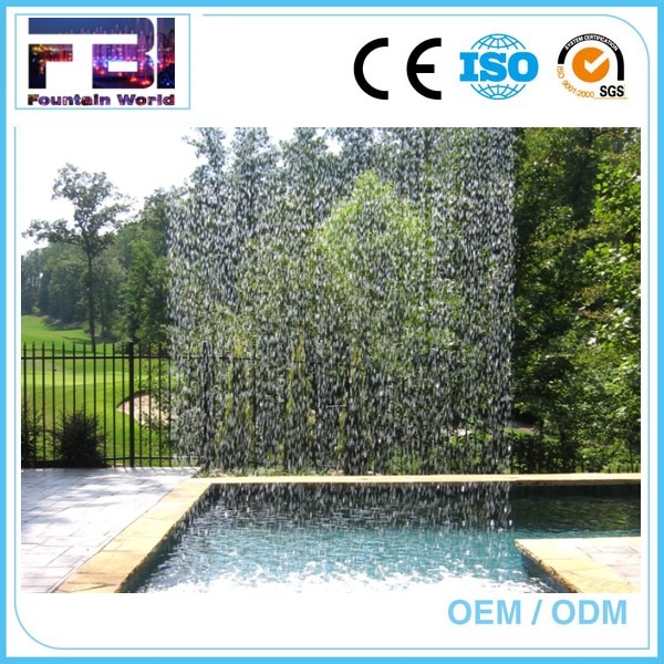 Musical graphical water curtain fountain nozzle for waterscape