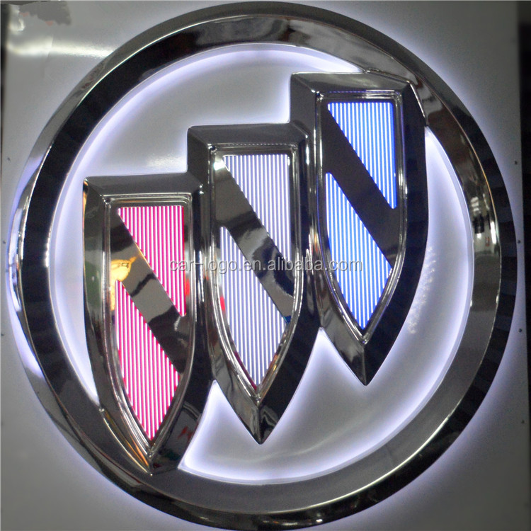 Car logo led sign manufacturer vacumm formed logo