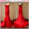 Factory direct hot red sweetheart evening dress