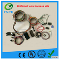 20 Circuit Wire Harness Kit Universal Chevy Street Hot Rat Rod Color Coded Kits