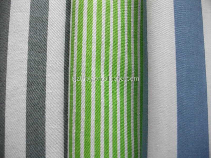 blue and white striped fabric cotton for bedding