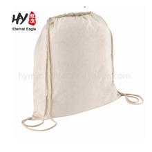 Go out to carry something canvas backpack drawstring dust bag