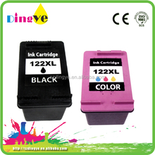 Compatible ink cartridges for HP122 Tri-color&Black Multi-packed high ink yield