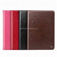 2016 Hot sale Genuine Leather Smart Back Cover with Card Slot Stand Handle for iPad mini