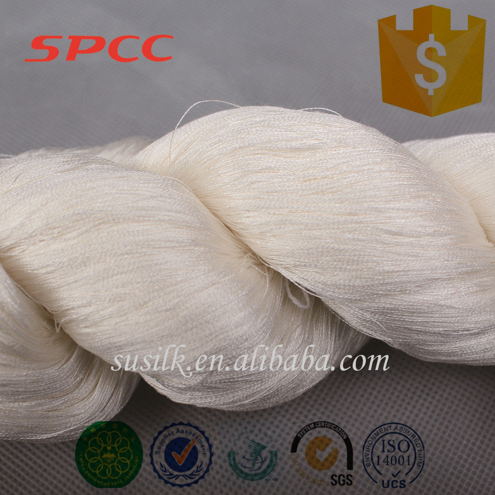 china spun silk yarn manufacturer wholesale silk weaving yarn 210nm/2