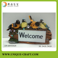Wholesale cheap resin bird figure for home decoration