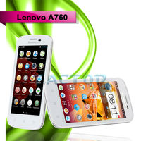 lenovo A760 smart phone original Lenovo 1.2GHz Quad Core MSM8225Q Android 4.1 1G/4G 4.5 Inch 854x480p IPS Screen