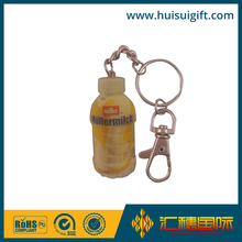 Blank metal cheap 3D bottle shape key chain