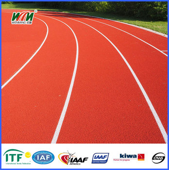 synthetic Full PU system waterproof running track for sport court