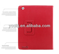 2013 new products ! ! china supplier Luxury Litchi leather case for ipad mini with Stand Function best price