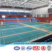 standard size professional badminton court pvc sports floor for athlete