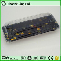 China factory manufactory sushi roll package container, sushi tray, disposable sushi box
