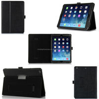 Heavy-duty Flip leather protective case for ipad air with pen holder and hand strap