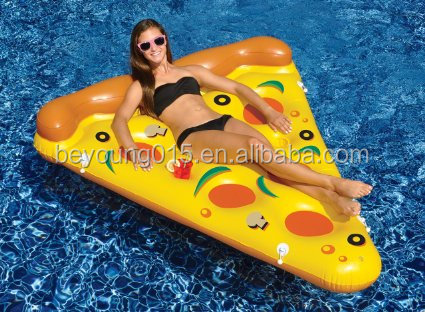 water sports giant inflatable pizza slice swimming pool float/plastic pizza slice mattress water bed