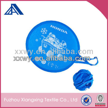 Hottest MINI Printed cartoon foldable polyester frisbee with pouch