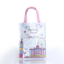 Women's Clear Transparent Bag Large Tote PVC Bag printed Shopping Bag