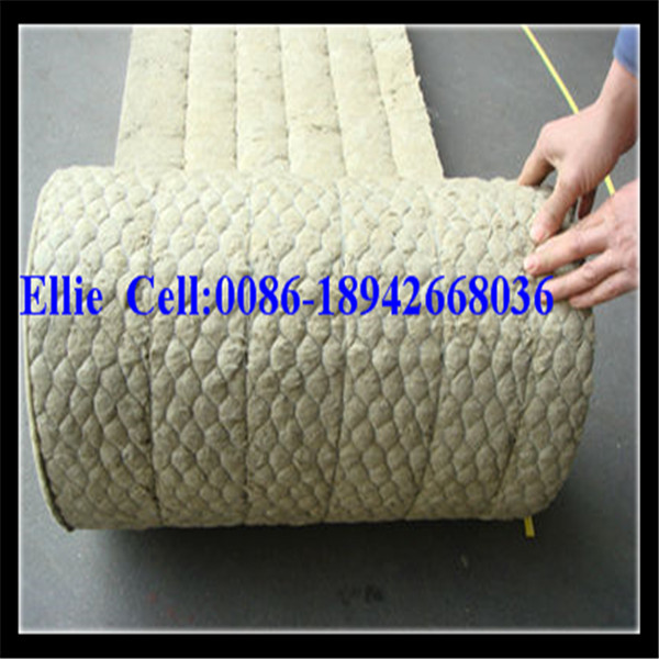 Wire mesh backed mineral wool blanket rock wool blanket for Mineral wool blanket
