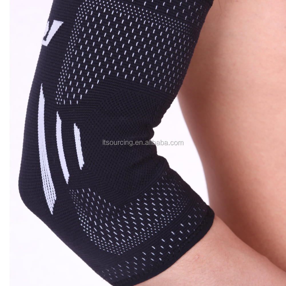 Sports Wear Stretchy Sleeve Elbow Support Brace 2 Pcs Pro Self-Warming Elbow Support S/M/L