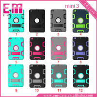 3IN1 Shockproof PC Case For iPad Mini Back Clip Holder Case For iPad Mini