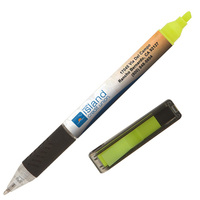 Full color pen with highlighter and flags. Comes with your full color logo with NO additional charges.