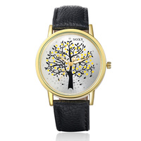 Hot Sale! Brand Soxy Watches Fashion & Casual Luxury Leather Watch with tree printed Elegant Wris-twatch for women