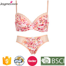 manufacturer in China pink floral print lace woman underwear