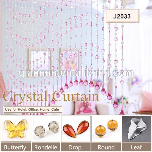 Crystal beaded curtain door screens
