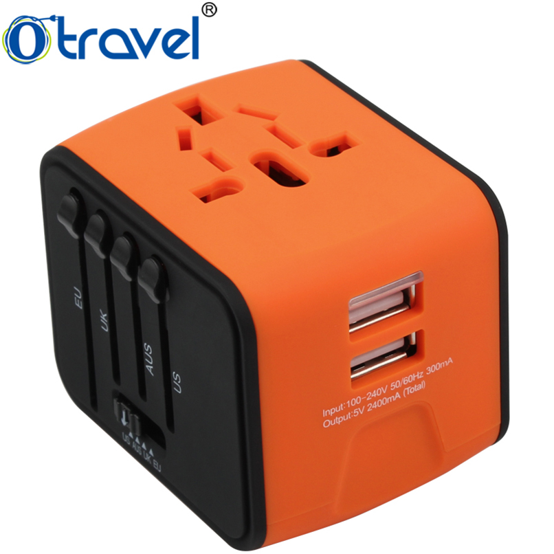2016 universal external <strong>laptop</strong> phone <strong>battery</strong> charger world 2 usb Travel Adapter
