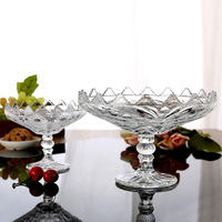 Decorative Glass fruit Bowl with stem