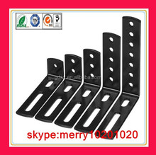 customized black metal l bracket/small angle bracket dongguan adjustable metal angle bracket
