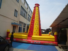 tall outdoor inflatable water rock climbing wall
