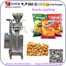 Shanghai factory Automatic cashew nuts puffed food snack packer sealer packaging machine price with PLC and touch screen