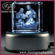 Crystal Laser Christmas Gift-Blessed Virgin Mary